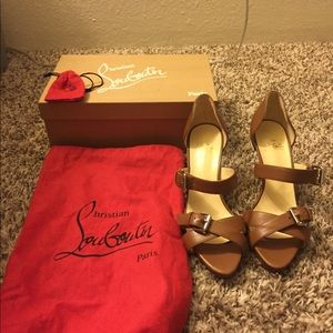 Christian Louboutin Brown Atlanta Calf Sandals